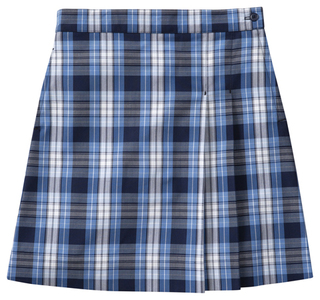 Girls Plaid Double pleated Scooter-