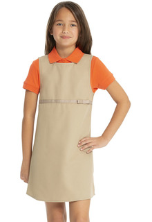 Empire Waist Jumper w/Ribbon Bow-Real School Uniforms