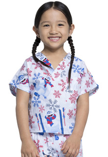 Kids Print Top and Pant Scrub Set-Tooniforms