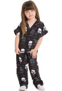 Kids Disney + Holiday,  Halloween Print Top and Pant Scrub Set-Tooniforms