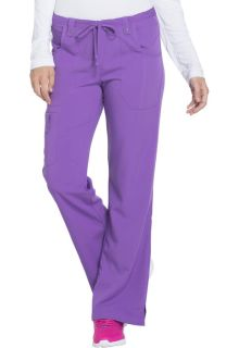 Xtreme Ladies Mid Rise Drawstring Cargo Scrub Pants - Dickies 82011