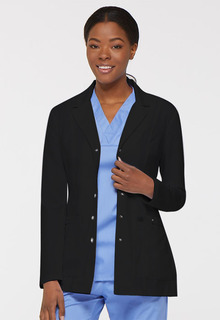 "28"" Snap Front Lab Coat-"