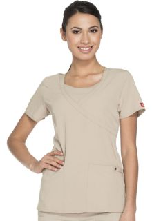 82814 Mock Wrap Top-Dickies