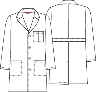 "83460 37"" Unisex Lab Coat-Dickies"