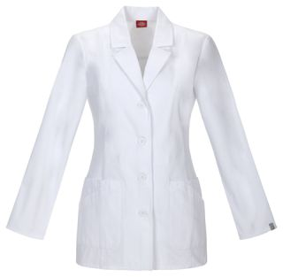"DEAL - Dickies 29"" Ladies Adjustable Back Belt Lab Coat - Antimicrobial w/Fluid Barrier-Dickies"