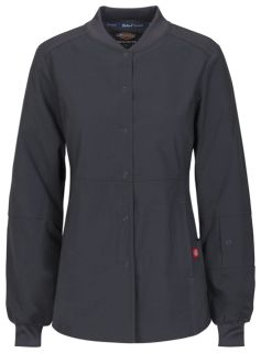 Dickies Medical EDS Signature Stretch 85304A Snap Front Warm-up Jacket-Dickies