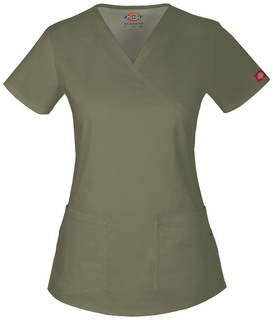 85700 Mock Wrap Top-Dickies
