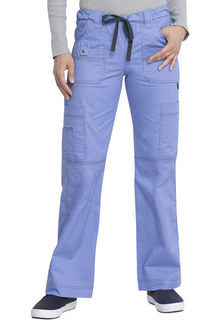 Gen Flex Ladies Low Rise Elastic/Drawstring Cargo Scrub Pants - Dickies 857455-Dickies