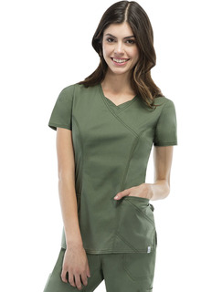 85954A Mock Wrap Top-Dickies Medical