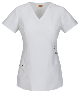 Xtreme Ladies Mock Wrap Scrub Top - Dickies 85956-