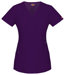 85956 Mock Wrap Top-Dickies