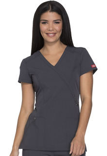 Xtreme Ladies Mock Wrap Scrub Top - Dickies 85956-Dickies Medical