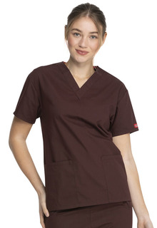 Dickies Signature Ladies 2 Pocket V-Neck Top - 86706-Dickies