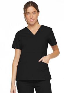 Dickies SIgnature Ladies 2 Pocket Mock Wrap Top - 86806-Dickies