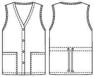 96758 Button Front Vest-Cherokee Medical