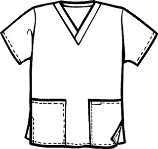 V-NECK 2 PKT SCRUB TOP-Scrub Solution