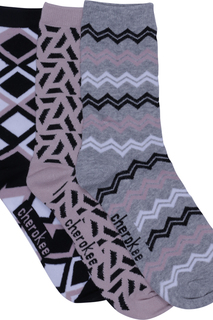 1-3pr Pack Crew Socks-Cherokee Medical