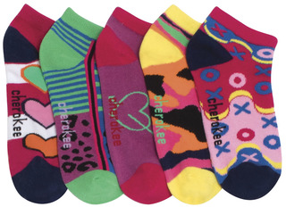 BRIGHTENUP 6-5pr packs of No Show Socks-Cherokee Medical