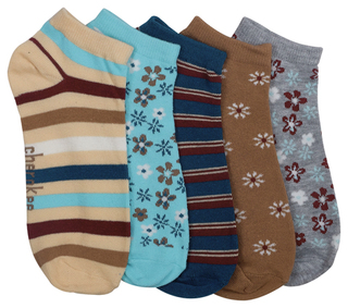 6-5pr packs of No Show Socks-