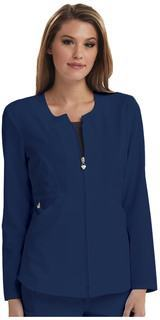 Careisma Fearless Zip Front Scrub Jacket-Careisma
