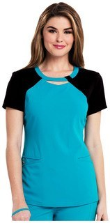 Careisma Fearless Collection Women's Audrey Contrast Round Neck Top-Careisma