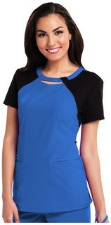 Careisma Contrast Peek a Boo Round Neck Top - CA606 -Careisma