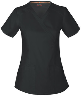 CH601A Mock Wrap Top-Code Happy
