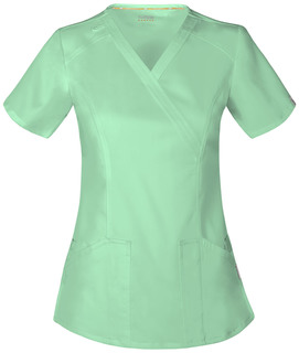 Code Happy Cloud Nine Mock Wrap Scrub Top-Code Happy