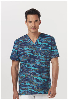 CH621A Mens V-Neck Top-Code Happy