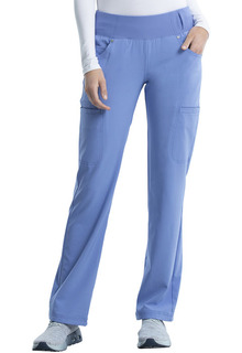 IFlex Mid Rise Straight Leg Pull-on Pant - CK002-Cherokee Medical