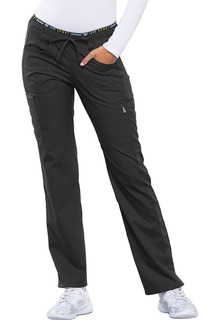 Luxe Sport Ladies Stretch Mid Rise Straight Leg Pull-on Pant - CK003-Cherokee Medical