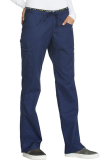 Cherokee 6 Pocket Mid Rise Straight Leg Cargo Pull-On Scrub Pant-Cherokee Medical