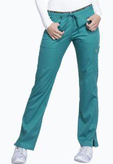 CK003 Mid Rise Straight Leg Pull-on Pant-Cherokee Medical
