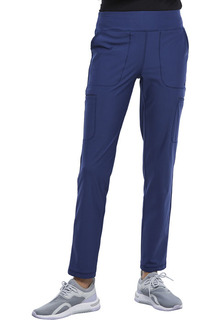 Mid Rise Slim Straight Pull-on Pant-Cherokee Uniforms