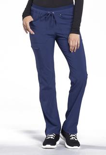 Mid Rise Tapered Leg Drawstring Pants-Cherokee Uniforms