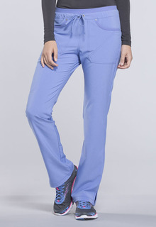 Mid Rise Tapered Leg Drawstring Pants-