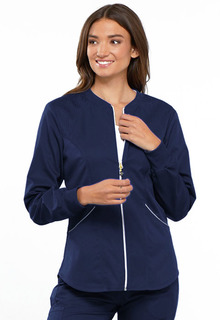 Luxe Sport Ladies Stretch Zip Front Warm-up Jacket - CK300-Cherokee Medical