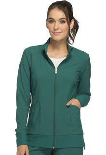 IFlex Sporty Zip Front Warm-Up Jacket - CK303-Cherokee Medical