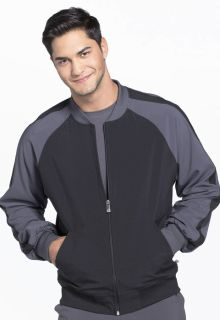Cherokee Medical Medical Infinity Men Mens Colorblock Zip Up Warm-Up Jacket-Cherokee Medical