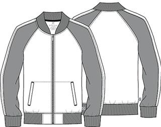 Mens Colorblock Zip Front Jacket-Cherokee Medical