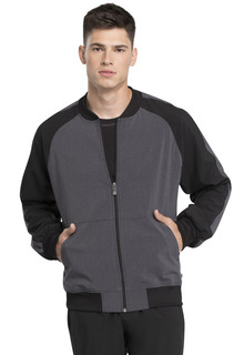 Mens Colorblock Zip Front Jacket-Cherokee Medical