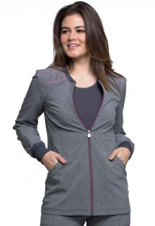 CK340A Zip Front Warm-Up Jacket-Cherokee Medical