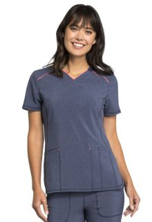 Infinity Chic V-Neck Trim Top - CK520A-Cherokee Medical