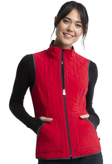 Reversible Quilted Vest-Cherokee Uniforms