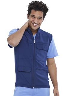 Infinity NEW Men's Zip Front 4 pocket Cargo Vest - Antimicrobial-Cherokee Medical