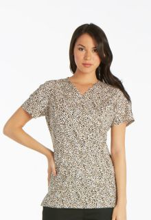 CK601 Mock Wrap Knit Panel Top-Cherokee Medical