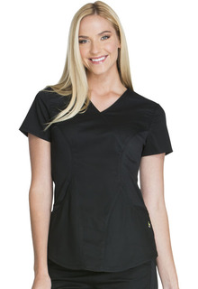Cherokee 4 Pocket Mock Wrap Scrub Top-Cherokee Medical