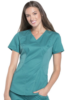 CK603 Mock Wrap Top-Cherokee Medical