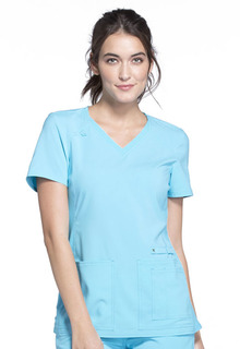 IFlex V-Neck Knit Panel Top-Cherokee Medical