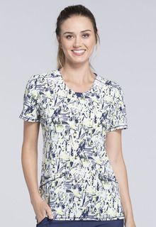 Cheroke Round Neck Scrub Top-Cherokee Medical